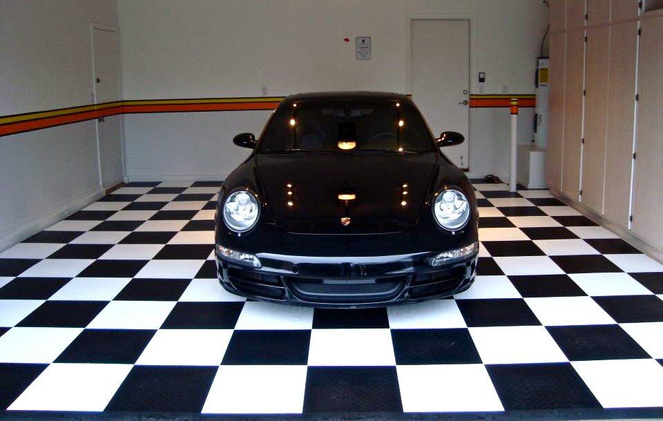 Black Car On Racedeck Floor