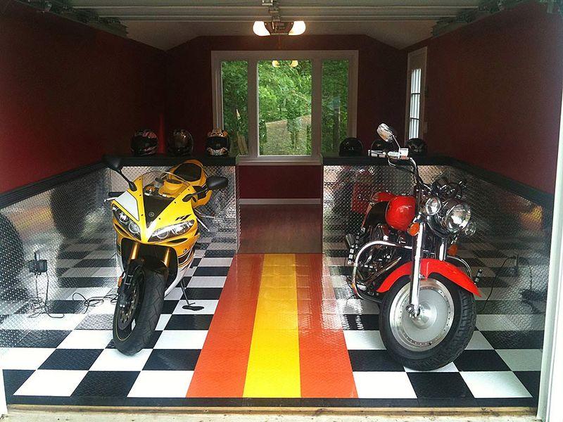 Bikes On Modular Floor
