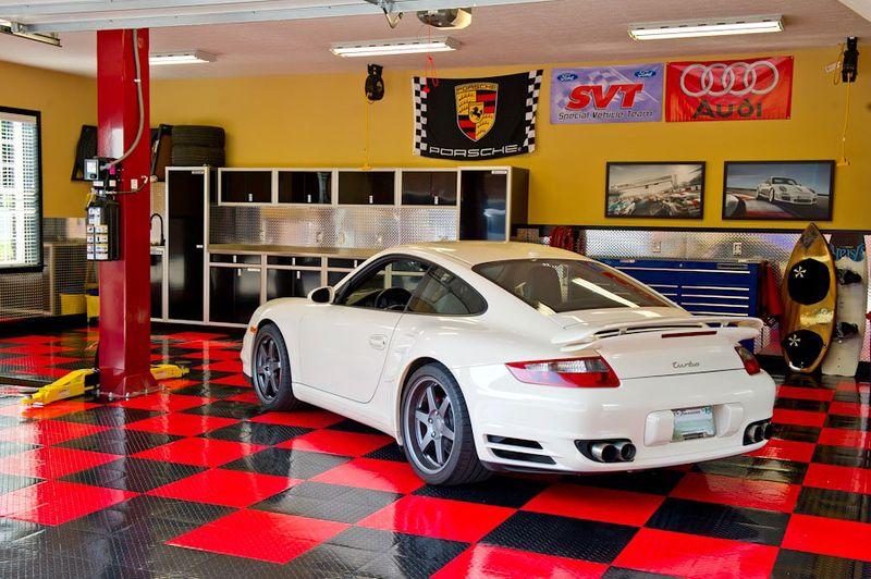Porsche On A Racedeck Floor
