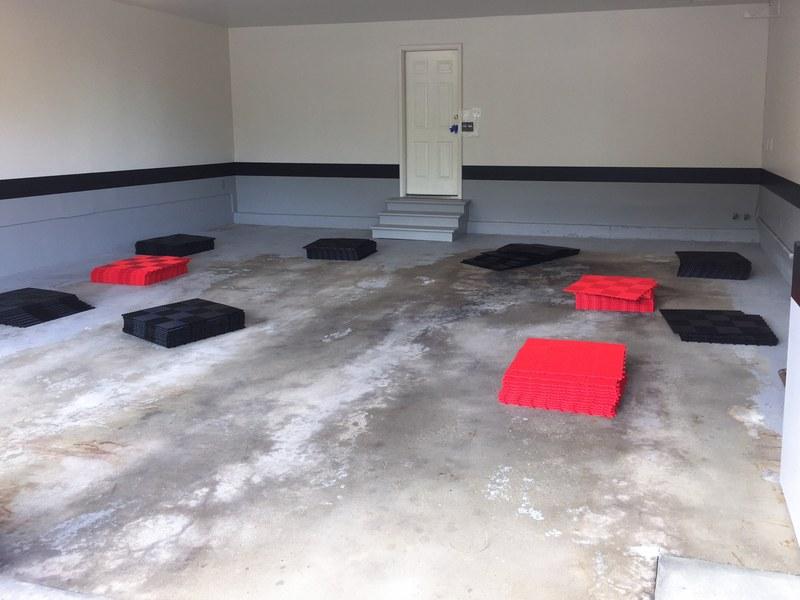 Before Modular Flooring
