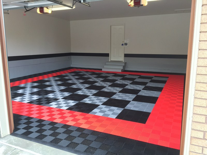 Red Black Racedeck Floor