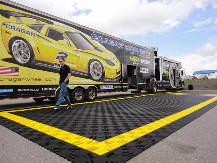 Racedeck Flooring For A Car Show