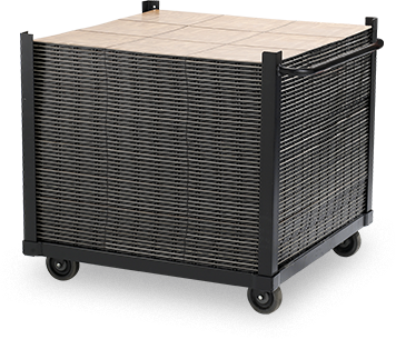 specially designed cart for snaplock dance and event floors